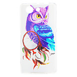 Owl Pattern TPU Material Soft Cover for Sony Xperia Z3 Compact