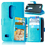 High Quality PU leather Wallet Mobile Phone Holster Case For LG Leon 4G C40(Assorted Color)