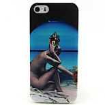 Naked Woman Painting Pattern TPU Soft Case for iPhone 5/5S