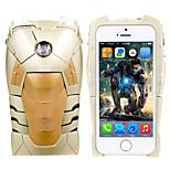 iphone 5 caso meraviglia oro ironman 3d copertura dura cassa libero con la protezione dello schermo headfore hd per il iphone 5 / 5s