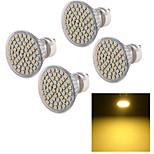 YouOKLight® 4PCS GU10 5W 450lm 60*SMD3528 Warm White Spotlight,Lampu daya tinggi dipimpin sorotan (AC 220V)