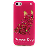 Dragon Dog Painting Pattern TPU Soft Case for iPhone 5/5S