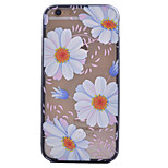 Flowers Pattern Transparent Acrylic Backplane TPU Frame Combo Material Phone Case for iPhone 6/6S