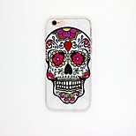 Human Skeleton Pattern TPU Relief Cover Case for iPhone 6/6S