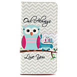 Owls will always love you tree Pattern PU Leather Case with Money Holder Card Slot for BQ Aquaris E5