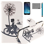 LEXY® Bicycle Lovers Pattern PU Full Body Leather Case with Screen Protector and Stylus for iPhone 6/6S Plus