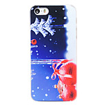 Christmas Style Bells in Snowy Night Pattern Transparent PC Back Cover for iPhone 5/5S
