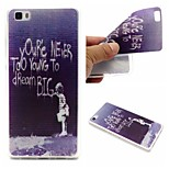 Dream Wall Words Phrase Pattern 0.6mm Ultra-Thin Soft TPU Case For Huawei P8 Lite