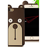 3D Cartoon Lovely Bear Animal Rubber Soft Silicone Case Cover for iPhone 6/6S