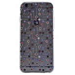 geometría patrón TPU caes caso relieve pintado transparente para iPhone6 / 6s