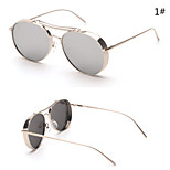 Women 's Mirrored  100% UV400 Oval Sunglasses