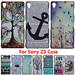 For Xperia Z3 Brand Ultra Thin Cartoon Pattern Matte Hard Back Case for SONY Xperia Z3 L55T Cell Phone Protective Cover