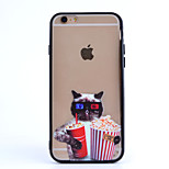 Popcorn Glasses Cat TPU and PC Material Combo Phone Case for iPhone 5/ 5S