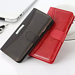 New Crazy Horse Pattern  Solid PU Leather Material Flip Card Cell Phone Case for iPhone 5 /5S (Assorted Colors)