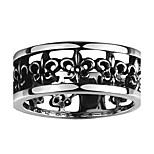 Ring Non Stone Others Unique Design Fashion Halloween Wedding Party Daily Casual Jewelry Steel Men Ring 1pc,8 9 10 11 Black