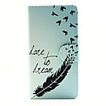 Feather Face Design PU Leather Stand Case with Card Slot for Sony Xperia M2