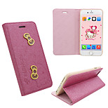 iphone 6 PU leather cover Disney Hello Kitty Butterflies Red with a free Headfore HD Screen Protector for iPhone 6