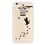 Cat Pattern TPU Material Phone Case for iPhone 6/6S