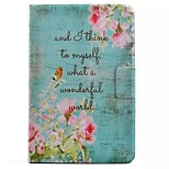 Flower Pattern Standoff Protective Case for iPad Mini 4