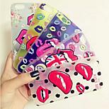 sexy Lippen auf Lippen bewegen Entwurfs-TPU weiche Fallabdeckung für iphone 5 / 5s (verschiedene Farben)