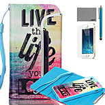 LEXY® Split type Love Life Pattern PU Full Body Leather Case with Screen Protector and Stylus for iPhone 5/5S