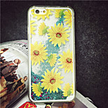 MAYCARI® The Blooming Sunflowers Bling Quicksand Star Pattern Transparent PC Back Case for iPhone 6/iphone 6s