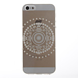 Lace Flowers Pattern Transparent Soft TPU Back Cover for iPhone 5/5S
