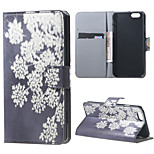 Magnetic Leather Stand Case Cover for iPhone 6/6S - snow