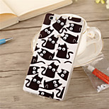 3D Free Rotation Eye French Cat Pattern Acrylic TPU soft Back Cover Case for Huawei P8 Lite/P8/Mate 7