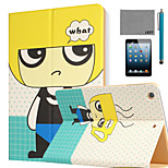 LEXY® Blond Boy Pattern PU Leather Flip Stand Case with Screen Protector and Stylus for iPad Mini 4