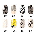 1pcs - Autocollants 3D pour ongles / Bijoux pour ongles - Doigt - en Adorable / Punk - 125*90mm