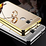 Plating Mirror Back with Metal Frame Phone Case for Huawei Mate 7 (Assorted Colors)