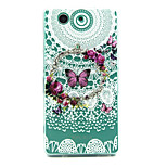 Butterfly Wreath Pattern TPU Relief Back Cover Case for Sony Xperia Z3 Compact