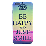 Sunset Crown Pattern Hard Back Case for iPhone 6