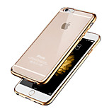 High Quality Simple Smooth Transparent Gilt Edge Phone Case for  iPhone 6/6S(Assorted Colors)