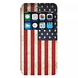 Flag of the United States pattern TPU+PU Flip window shell Case For iPhone6/6s