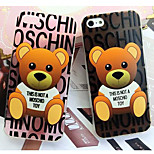 niedlichen Cartoon-Bären super dünne Umhüllung TPU weichen Fällen für iPhone 5 / 5s (verschiedene Farben)