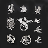 Beadia Metal Owl & Pigeon & Swallow Charm Pendants Antique Silver DIY Jewelry Accessories