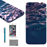 LEXY® Deep Blue Sea Pattern Hard PC Back Case with 9H Glass Screen Protector and Stylus for iPhone 5/5S