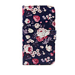 Flowers Design PU Leather Full Body Case with Stand and Card Slot for  LG G3
