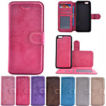 Crazy Horse Pattern PU Leather 2 in 1 Detachable Full Body Phone Cases for iPhone 6 Plus/6S Plus 5.5 inch
