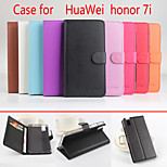 Flip Leather Magnetic Protective Case For Huawei Honor 7i(Assorted Colors)