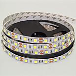 js 5m ha condotto 300 * 5050 SMD dc12v caldo / bianco freddo bianco lampada principale striscia 72w