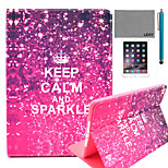 LEXY® Calm Sparkle Pattern PU Leather Flip Stand Case with Screen Protector and Stylus for iPad Air 2/iPad 6