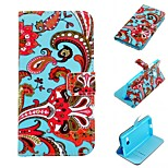 Safflower Design PU Leather Full Body Case with Stand and Card Slot for Nokia Lumia N730