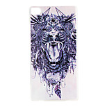 The Lion Pattern TPU Material Back Cover for Huawei P8