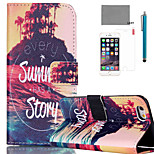 LEXY® Great Summer Story Pattern PU Full Body Leather Case with Screen Protector and Stylus for iPhone 6/6S Plus
