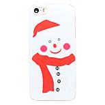 Estilo de la Navidad pañuelo rojo patrón de muñeco de nieve pc transparente de la contraportada para el iphone 5 / 5s