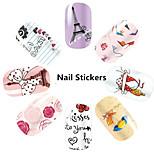 1pcs - Autocollants 3D pour ongles / Bijoux pour ongles - Doigt - en Fleur / Adorable - 145*75mm