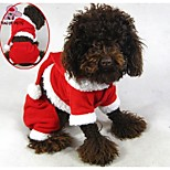 FUN OF PETS® Lovely Santa Claus Costume Jumpsuit Dogs Christmas Clothes for Pets Puppy Clothing (Assorted Sizes)
